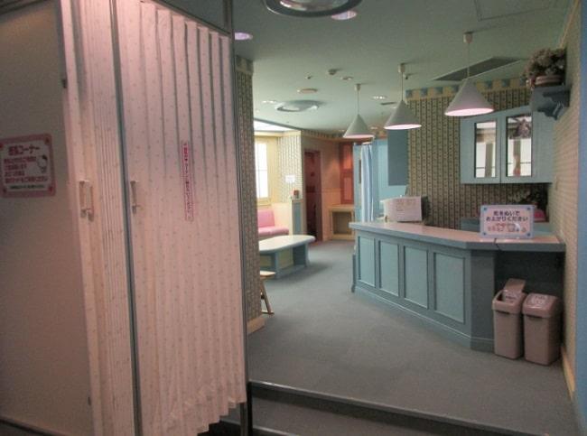 サンリオピューロランドベビーセンターの室内